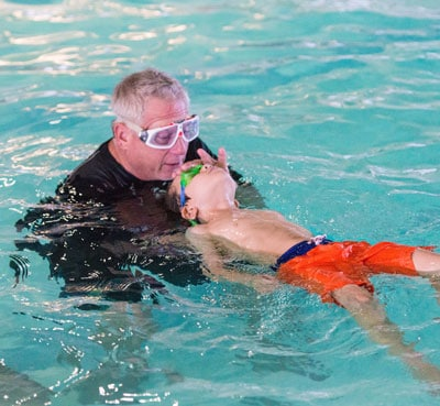 Private one-on-one swimming lesson