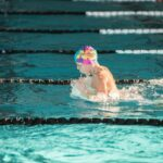 swimmer doing the breaststroke